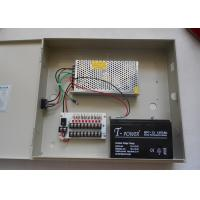 Wholesale 9 Channel IEC CCTV Power Supplies For Surveillance Camera , Back Up Battery 13.8V from china suppliers