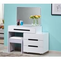 Wholesale Makeup White Vanity Table Set / Bedroom Dressing Table With Mirror from china suppliers