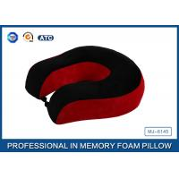 Quality Red And Black Neck Support Memory Foam Pillow U Shaped Travel Pillow For Sleeping for sale