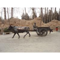 Wholesale bronze  man driving carriage sculpture from china suppliers