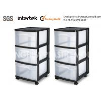 Wholesale Custom Made Low Cost Plastic Drawer Storage Racks with Wheels from china suppliers