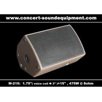 "Quality 475W Concert Sound Equipment 1.4"" + 15"" Stage Monitor , Full Range Speaker For Installation for sale"