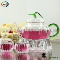 Wholesale Glass flower teapots and double wall cups from china suppliers