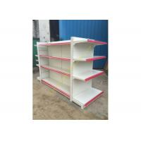 Wholesale Double - sided Supermarket Display Shelving Rack , Retail Shelving System from china suppliers