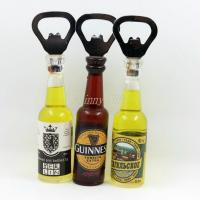 Wholesale Shinny Gifts Promo Gifts Bottle Opener with Fridge Magnet Sticker from china suppliers