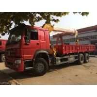 Wholesale Heavy Duty 12 Tons HIAB Truck Mounted Telescopic Crane 6X4 LHD Truck Cargo Lift from china suppliers