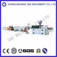 Conical Double Screw  PVC Plastic Pipe Extrusion Machine 38Crmoala