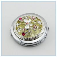 Wholesale wholesale butterfly round shape rhinestone metal pocket mirrors from china suppliers