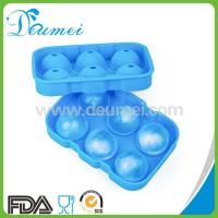 Wholesale BPA Free 100% Food Grade 6 Cavities Custom Ball Shaped Silicone Ice Cube Tray from china suppliers