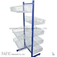 Wholesale Metal / Iron Free Standing Wire Display Racks With 7 Basket 10-30kgs from china suppliers