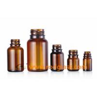 Wholesale amber reagent glass bottle for solid with tamper evidient caps,Various size from china suppliers