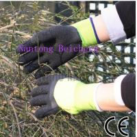 Wholesale 3/4 Black Latex Coated Gloves , Fluorescein Polyester Jersey Liner Dip from china suppliers