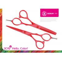 Wholesale Red Teflon Coating Convex-edge Stainless Steel Hair Scissor Sharpener / Hairdressing Shear from china suppliers