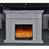 Wholesale Decoration LED Corner Electric Fireplace , Ivory White Recessed Electric Fireplace from china suppliers