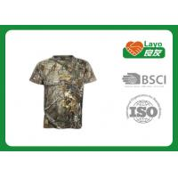 Wholesale Summer Short Sleeve Camo T Shirts For Hunting / Hiking Fast Dry from china suppliers
