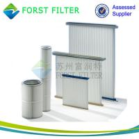 Wholesale FORST Cylinder Air Cartridge Polyester Air Filter Material Pleated Air Filter Supplier from china suppliers