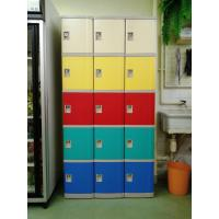 Wholesale Safety / Ventilation Plastic School Lockers Red Door Cabinet Gray 2 Tier Lockers from china suppliers