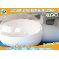 Wholesale White / Clear Inflatable Bubble Tent , Inflatable Snow Globe Christmas Decorations from china suppliers