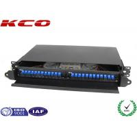 Quality 19'' Fiber Optic Terminal Box / Fiber Optic Patch Panel 24 Cores With SC Pigtail for sale