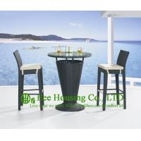 Wholesale Outdoor PE Rattan Bar Stools With Seat Cushion , Aluminum Frame Bar Stool For Sale from china suppliers