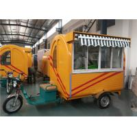 Quality Stainless steel Tricycle Food Cart  For Frying Ice Cream , Mobile Ice Cream Truck cart for sale
