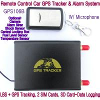 Wholesale GPS106B Car Safety Vehicle GPS Tracker W/ Armed by remote-controller & geo-fencing Alarm from china suppliers