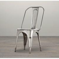 Wholesale Modern Stackable Metal Wood Dining Chairs , red grey Silver dining chairs metal frame from china suppliers