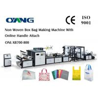 Wholesale Multi Function Auto Non Woven Box Bag Making Machine With Handle Fix Device from china suppliers