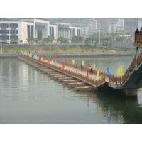 Quality Temporary Floating Pontoon Ribbon Bridge For Medium and Large Rivers for sale