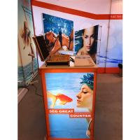 China Aluminum SEG Counter pop up banner stands , pop up exhibition stands on sale