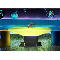 Buy cheap 2018 Modern design cocktail table lights rectangle glass top LED bar table from wholesalers