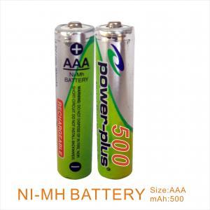 Wholesale NIMH AAA500mAH 1.2V camera & shaver & flashlight battery   from china suppliers