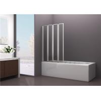Wholesale 4mm Tempered Framed Glass Bathtub Screen with Four Folding Doors from china suppliers