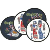 Wholesale Embroidered table coasters, merrow border, exquisite embroidered cotton coaster for table from china suppliers