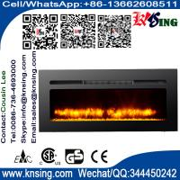405060Insert electric fireplace heater log LED flame effect IF-1340A wall mounted built-in flat front electric stove
