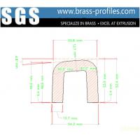 Wholesale Alloy Brass U-Channel Copper U Strips Brass U Extruded Channel from china suppliers