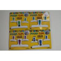 Wholesale Seal Bread Plastic Bag Clips , Bag Closures Clip With Magnetic Back from china suppliers