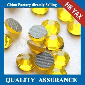 Quality W0515 citrine ss10 rhinestone,hotfix flat back rhinestone china shop,dmc hot-fix rhinestone for sale