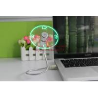 China New Durable Adjustable USB Gadget Mini Flexible LED Light USB Fan Time Clock Desktop Clock Cool Gadget Time Display on sale