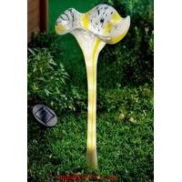 Wholesale Solar Munaro Hand Blown Glass Flower Iron Stake from china suppliers