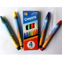 Wholesale 4colors wax crayon with promotion packing ;color box;non toxic;safety for kids from china suppliers