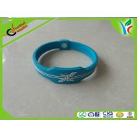 Wholesale Unique Relax King Silicone Balance Bracelet White Orange Embossed Logo from china suppliers