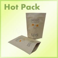 Wholesale Fresh Roasted Packaging Coffee Bags , Stand Up Ziplock Individual Coffee Pouch Bags from china suppliers