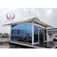 Buy cheap Steel Structure membrane Insulated Glass Walls Rustic Luxury Hotel For Resort And Wild Land Hotel from wholesalers