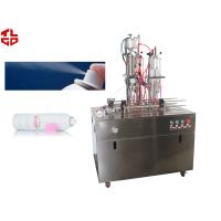 Wholesale Semi Automatic Bag On Valve Aerosol Filling Machine for Cosmetic Spray / Water Spray from china suppliers