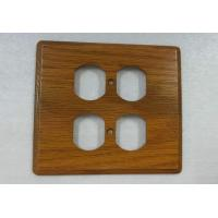 Wholesale Rustic Electrical Wooden 4 Toggle Switch Plate Covers Flat 140 X 126 mm from china suppliers