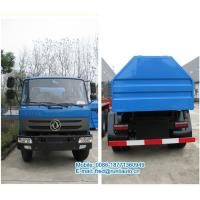 Quality Hydraulic lift blue color Dongfeng 4X2 8 ton hook lift truck cheap price for sale for sale