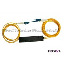 Quality 1x2 Fiber Optic PLC Splitter With Mini ABS Box / 3.0mm Cable / FC Fiber Connector for sale