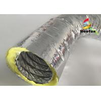 Quality High Temperature HVAC 14 Inch Flex Heating Duct Insulation Wrap Single Layer Aluminum Foil for sale