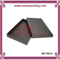 Wholesale Fashion black gift box with lid, garment paper packaging gift box ME-TB016 from china suppliers